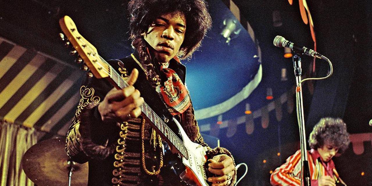 Mandatory Credit: Photo by MARC SHARRAT/REX (16987j) The Jimi Hendrix Experience - Jimi Hendrix at the Marquee Club, London Various - 1967
