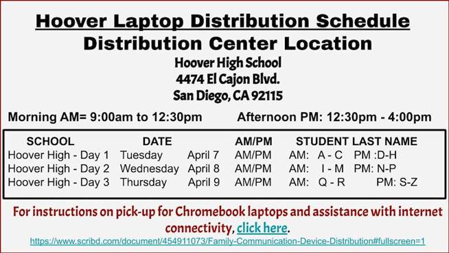 Computer distribution for Hoover High School