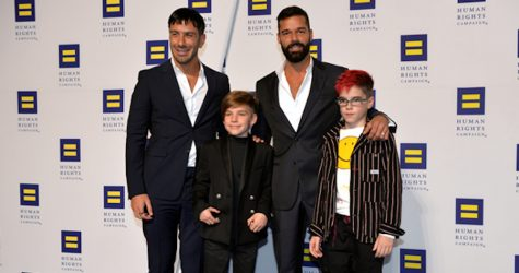 Ricky Martin with his husband Jwan Yosef and their twin sons Matteo and Valentino.