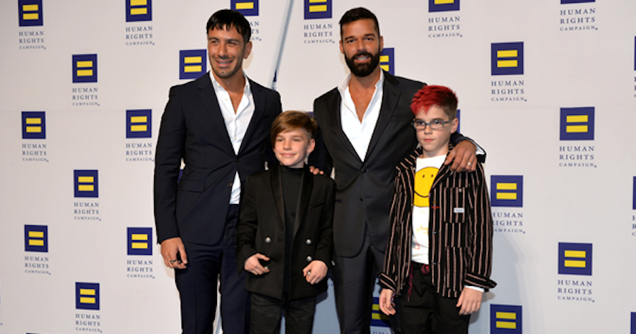 Ricky+Martin+with+his+husband+Jwan+Yosef+and+their+twin+sons+Matteo+and+Valentino.